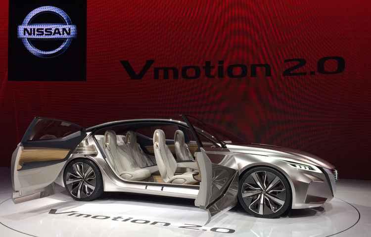 Conceito é uma demonstração do que a Nissan irá apostar nos próximos modelos do sedã - Taciana Góes/DP