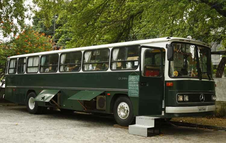 Programa imperdível para saudosistas e amantes do café. O ônibus fica no Museu do Estado  - Rafael Martins/DP