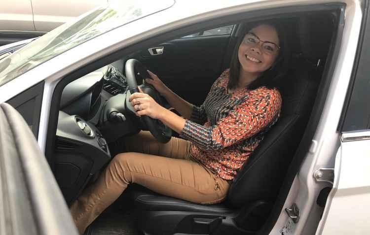 A engenheira química Karla França comprou um New Fiesta com câmbio automático que já veio com falha. - Karla França/Divulgação