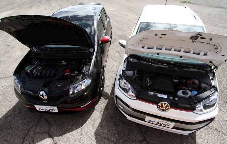 Ambos têm aceleração de 0 a 100 km/h abaixo dos 10 segundos - Bruno Vasconcelos / DP