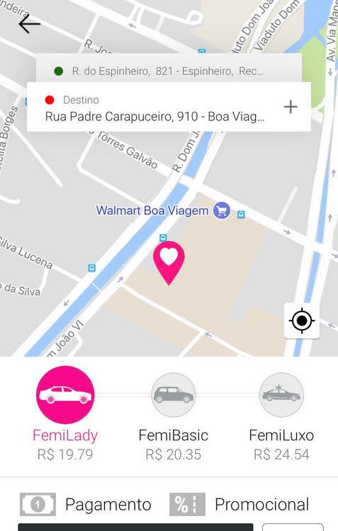 Recife recebe aplicativo de transporte exclusivo para mulheres