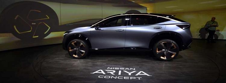 Nissan volta a exibir o Ariya Concept  um protótipo funcional de carro elétrico, na CES 2020 (AFP)