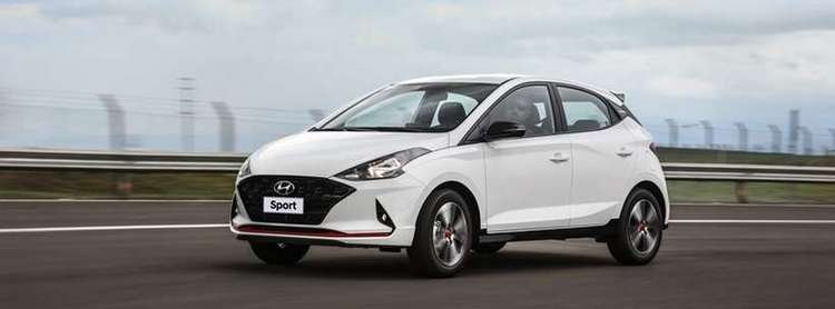 Hyundai HB20 Sport aparece com visual exclusivo partindo de R$ 70.990 com quatro opções de cores (Divulgação )